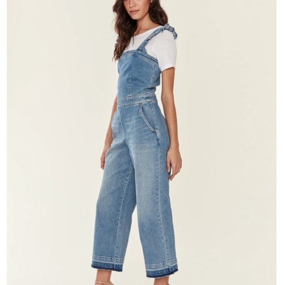 NWT...BLANK NYC It's Vintage Ruffle Jumpsuit